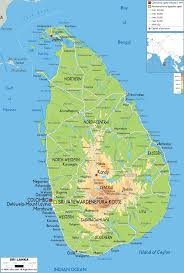 Asia Geography Map Physical Map Of Sri Lanka Ezilon Maps