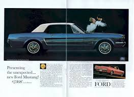 ford mustang ad blue 1964 ford mustang hardtop mustangattitude com photo detail