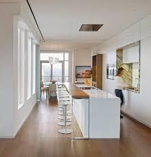 white kitchen breakfast bar yorkville penthouse ii in toronto