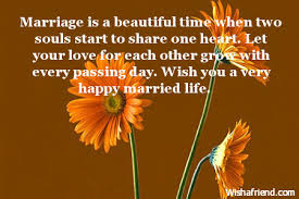 beautiful marriage wishes wishes