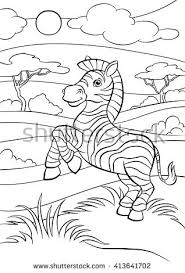 coloring pages wild animals cute stock vector 555006868