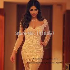 aliexpress com buy charming champagne long sleeve prom dresses