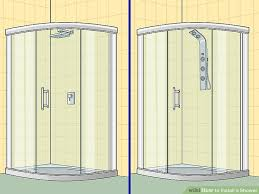 5 ways to install a shower wikihow