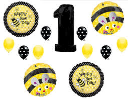 bumble bee decorations bumblebee 1st happy birthday party balloons