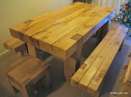 rustic oak dining table bespoke rustic oak beam dining table handcrafted furniture by on