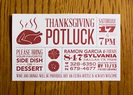 annual thanksgiving potluck invitations on behance