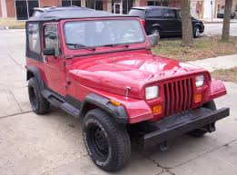 pink jeep rubicon 1987 jeep wrangler yj 4x4 sport utility 2 door 4 2l inline 6 stick