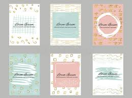 gift cards for business set of 6 gold blue pink and white business card template or gift