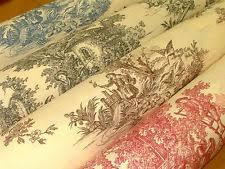 Shabby Chic Upholstery Fabric Toile De Jouy Fabric Ebay