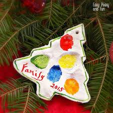 fingerprint tree salt dough ornament easy peasy and