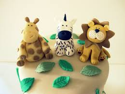 safari animal fondant figurines for a baby shower by whipple