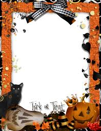 halloween paper border halloween frames and borders trick or treat