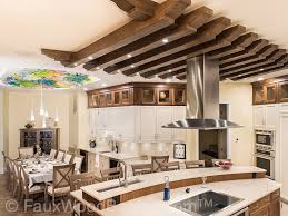 stunning kitchen ceiling treatment faux wood workshop