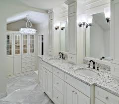 Paint Laminate Vanity White Ice Granite In A Bright And Airy Powder Room Decoist