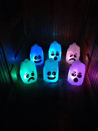 and glow best 25 milk jug ghosts ideas on milk jugs