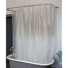 wide vinyl shower curtain for a clawfoot tub