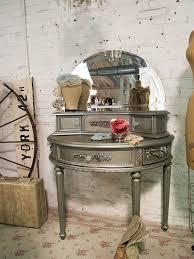 romantic vanity with beveled mirror via etsy i love the paint