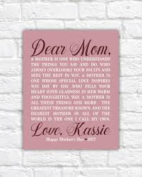 personalized mother u0027s day gift for mom from daughter mom poem