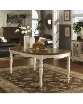 Find The Best Summer Savings On McKay Country Antique White - Tribecca home mckay country antique white pedestal extending dining table