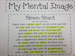 Poem About Halloween Can You See What I See Making Mental Images Miss Decarbo