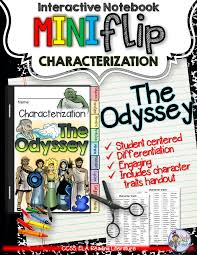 the odyssey characterization flip book flipping english and