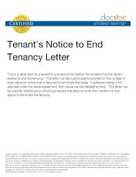 Contract Termination Notice Best Photos Of Tenant Notice Letter Template Tenancy Notice