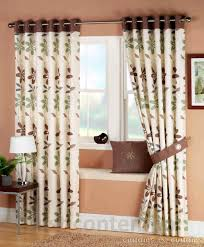 Green And Brown Curtains Curtain Green Floral Eyelet Curtains Excellent Ariel Brown