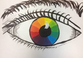 splats scraps and glue blobs color wheel eyes