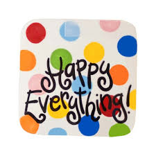 happy everything plate attachments happy everything bright dot mini square platter