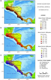 Map Of Central America With Cities by A New Evaluation Of Seismic Hazard For The Central America Region