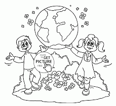 kids showing earth earth day coloring page for kids coloring