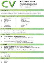 pdf of resume format sle cv format cv format in pakistan curriculum vitae