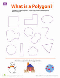 what is a polygon worksheet education com