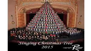 watch choir transforms into u0027america u0027s tallest singing christmas