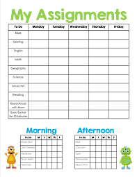 free home school homeschool assignment chores sheet free printable homeschool
