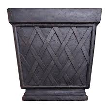 Lowes Planter Box by Shop Allen Roth 16 5 In X 17 5 In Antique Rust Fiberglass