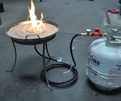 build a propane fire table outdoor propane fire pit kits fire pit grill ideas throughout diy