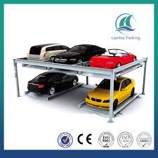 Basement Car Lift Basement Underground Parking System Lift Slide Hydraulic 2 Levels