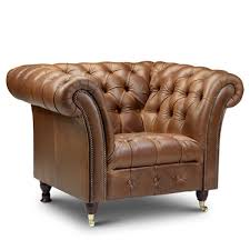 Club Chair Brown Leather Armchair Chesterfield Chair Modish Living
