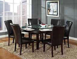 Dining Room Furniture Edmonton Steve Silver Hartford 62 Inch Dining Set With Lazy Susan At