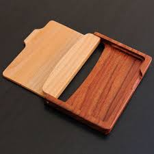 personalized wooden business card holder huntsimply