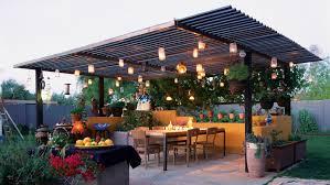 outdoor lighting ideas sunset