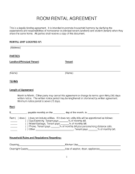 Sample Roommate Contract Room Sample Of Lease Agreement For Renting A Room Excellent Home
