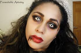 formidableartistry zombie prom queen bride halloween makeup tutorial