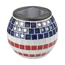 ace hardware solar lights paradise lighting solar red white blue glass rechargeable lantern