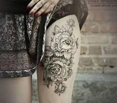 black and white rose tattoos on shoulder google search rose