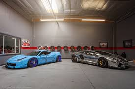 chrome ferrari 458 liberty walk ferrari 458 and chrome lamborghini aventador