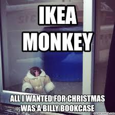 Ikea Monkey Meme - monkey christmas wish