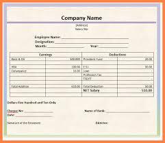 12 salary slip format on letterhead salary slip
