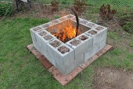 diy backyard pit building outdoor pit intended for diy fir 20449